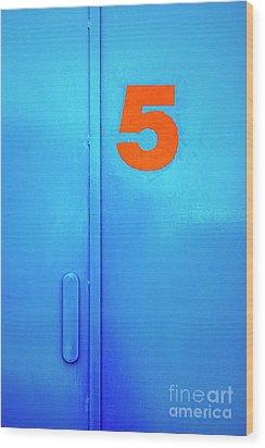 Door Five Wood Print by Carlos Caetano
