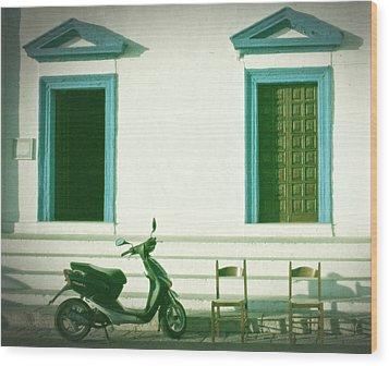 Doors And Chairs Wood Print by Joana Kruse