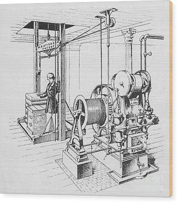 Double Oscillating Steam Engine Wood Print by Science Source