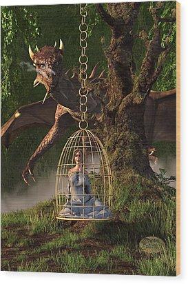 Dragon Bait Wood Print by Daniel Eskridge