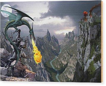 Dragon Valley Wood Print by The Dragon Chronicles - Garry Wa