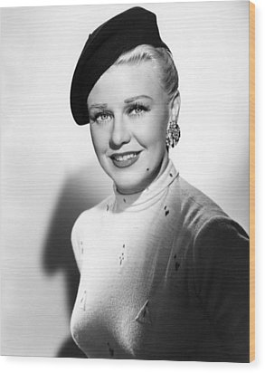 Dreamboat, Ginger Rogers, 1952 Wood Print by Everett