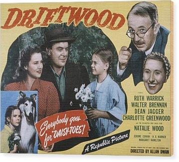 Driftwood, Ruth Warrick, Dean Jagger Wood Print by Everett