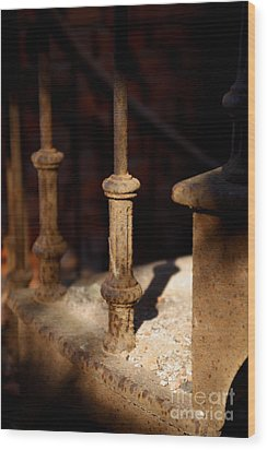 Dusk Rail Wood Print by Maglioli Studios