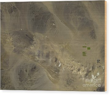 Dust Storm In Southern California Wood Print by Nasa