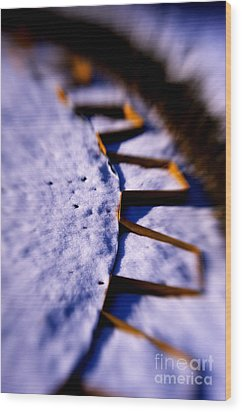 Dusty Snow And Geometry Third View Wood Print by Anca Jugarean
