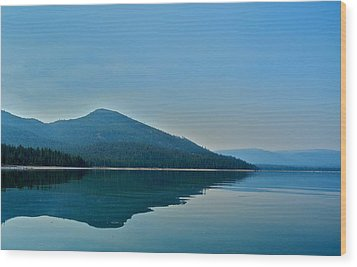 Eagle Lake Blues Wood Print by Kirsten Giving