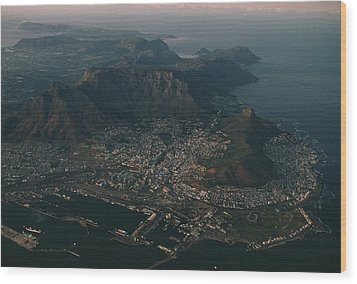 Early Morning Aerial View Of Cape Town Wood Print by James L. Stanfield