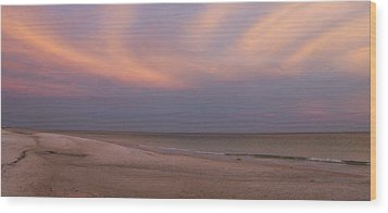 East - After The Sunset Wood Print by Sandy Keeton