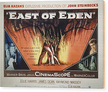 East Of Eden, James Dean, Lois Smith Wood Print by Everett