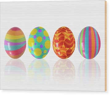 Easter Eggs Wood Print by Carlos Caetano