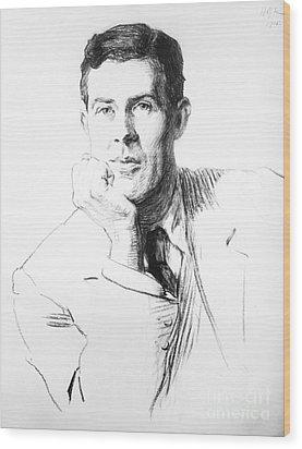 Edmund Clerihew Bentley Wood Print by Granger