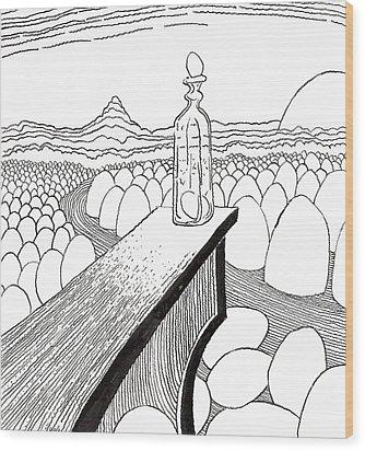 Egg Drawing 030310 Wood Print by Phil Burns