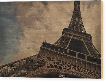 Eiffel Tower 2 Wood Print by Mary Machare