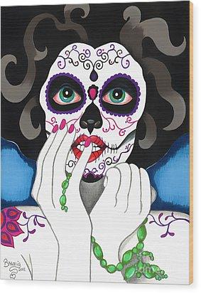 El Rosario Sagrado Wood Print by B Marie