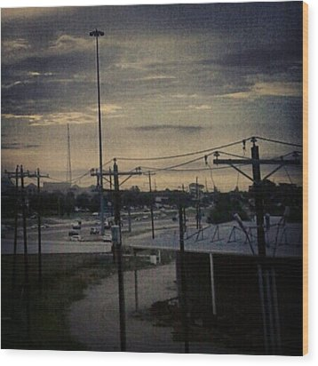 #electricalsky Wood Print by Kel Hill