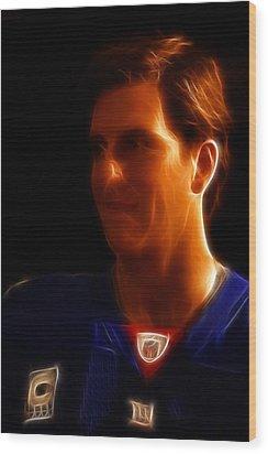Eli Manning - New York Giants - Quarterback - Super Bowl Champion Wood Print by Lee Dos Santos