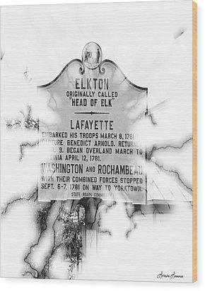 Elkton Head Of Elk  Wood Print by Lorraine Louwerse