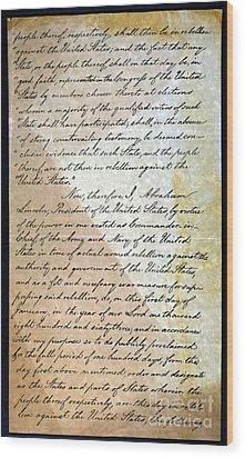 Emancipation Proc., P. 2 Wood Print by Granger