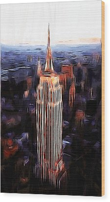 Empire State Building Wood Print by Steve K