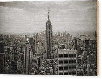 Empire State Wood Print by Ken Marsh