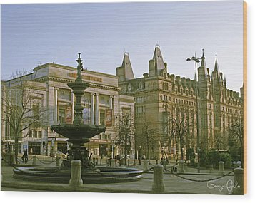 Empire Theater In Liverpool Wood Print by Georgia Fowler