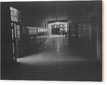 Empty Hallway At Central High School Wood Print by Everett