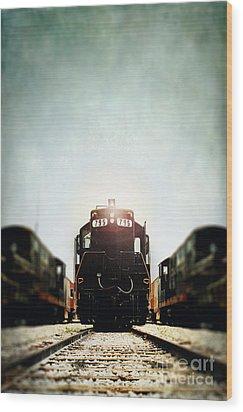 Engine795 Wood Print by Stephanie Frey
