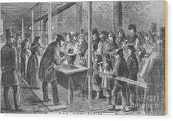 England: Soup Kitchen, 1862 Wood Print by Granger