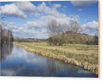 English Countryside Wood Print by Jane Rix