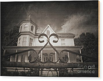 Enter If You Dare Wood Print by Jane Brack