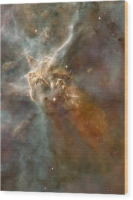 Eta Carinae Nebula, Hst Image Wood Print by Nasaesan. Smith (university Of California, Berkeley)hubble Heritage Team (stsclaura)