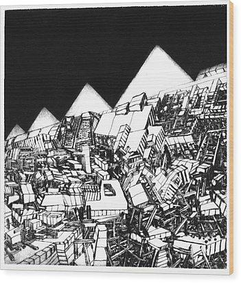 Europa 2036 Wood Print by Walkdemar Szysz