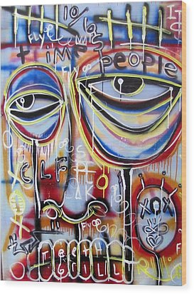 Everyone Wants To Change The World Wood Print by Robert Wolverton Jr