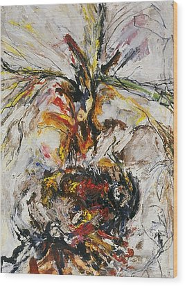 Explosion Two Wood Print by Iris Gill