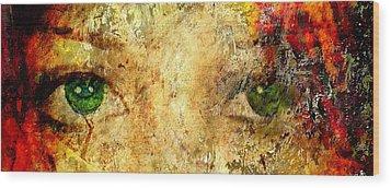 Eyes Of The Beheld Wood Print by Brett Pfister