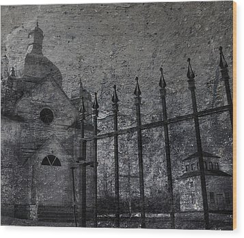 Faith Of Stone  Wood Print by Jerry Cordeiro