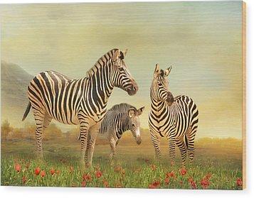 Family Ties Wood Print by Trudi Simmonds