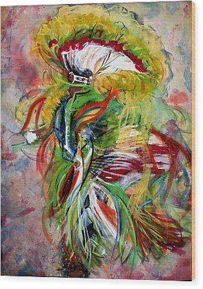 fancy Dancer II Wood Print by Christine Chzasz