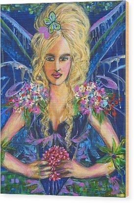 Fantashia Fae Wood Print by Kimberly Van Rossum