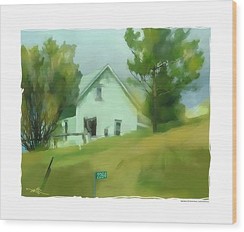 Farm House In Lucknow Ontario Wood Print by Bob Salo