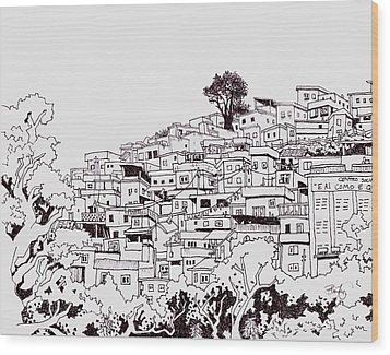 Favelas  Wood Print by Ben Leary