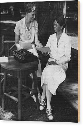 Fdr Presidency. Daughter Of First Lady Wood Print by Everett