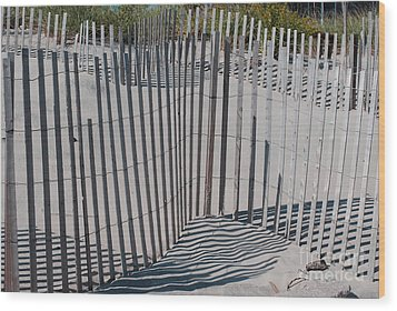 Fence Patterns II Wood Print by Andrea Simon