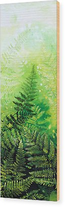Ferns 4 Wood Print by Hanne Lore Koehler