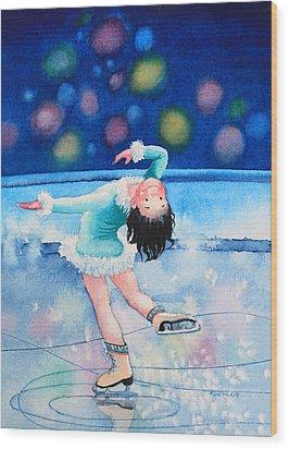 Figure Skater 16 Wood Print by Hanne Lore Koehler