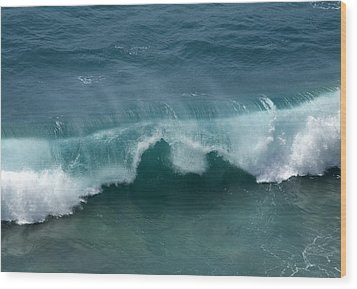 Final Collapse Of A Wave Wood Print by Gregory Scott