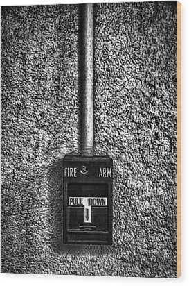 Fire Arm Pull Down Wood Print by Bob Orsillo