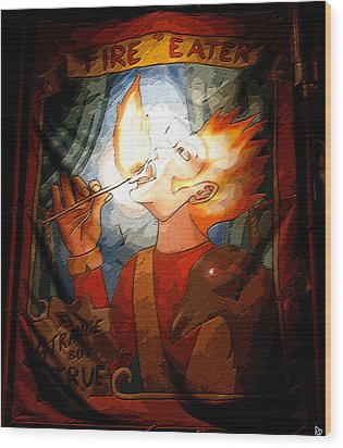 Fire Eater Wood Print by David Lee Thompson