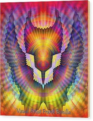Firebird Wood Print by Visual Artist  Frank Bonilla